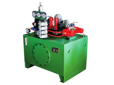 Flameproof secondary braking hydraulic station